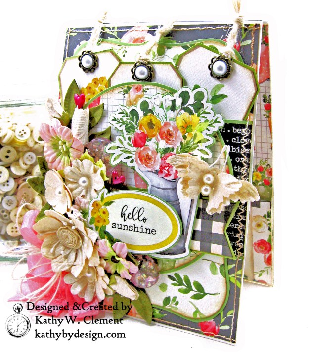 Carta Bella Spring Market Hello Spring Card Folio by Kathy Clement Kathy by Design PHoto 01