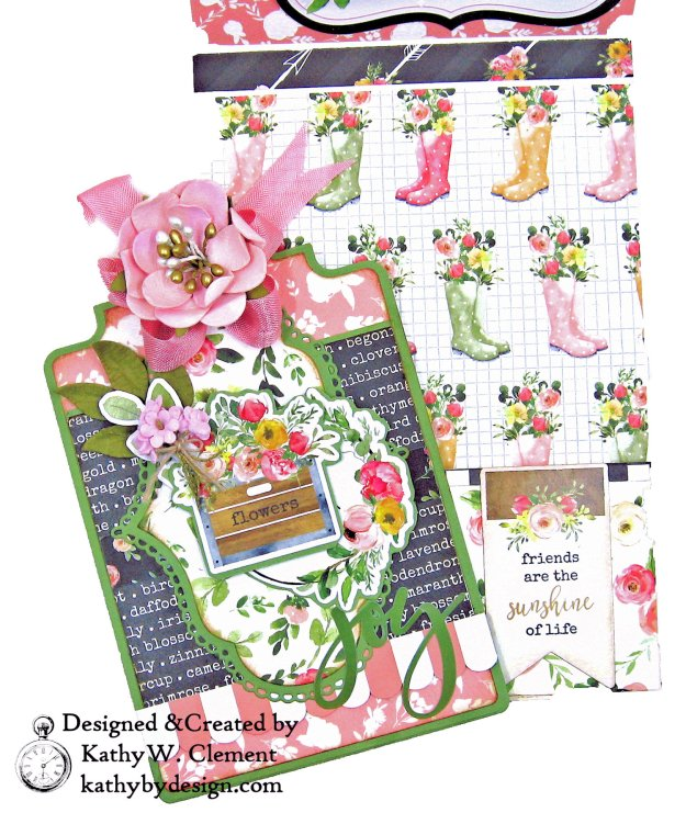 Carta Bella Spring Market Card Folio Heartfelt Creations Album Tags and Accents Die Kathy Clement
