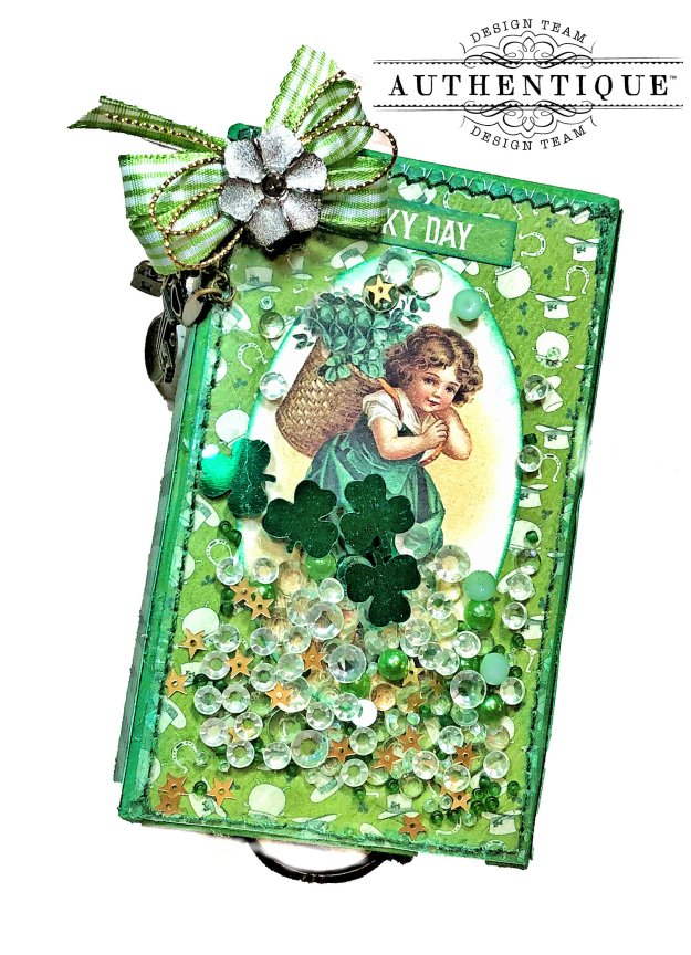 Authentique Clover Last Minute St. Patrick's Day Treat Box Tutorial by Kathy Clement Kathy by Design Photo 02