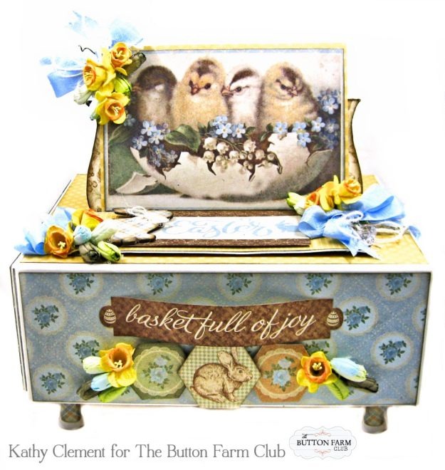 The Button Farm Club Basket Full of Joy Boxed Mini Album Kit Authentique Abundant Graphic 45 Deep Rectangle Box by Kathy Clement Kathy by Design Photo 01