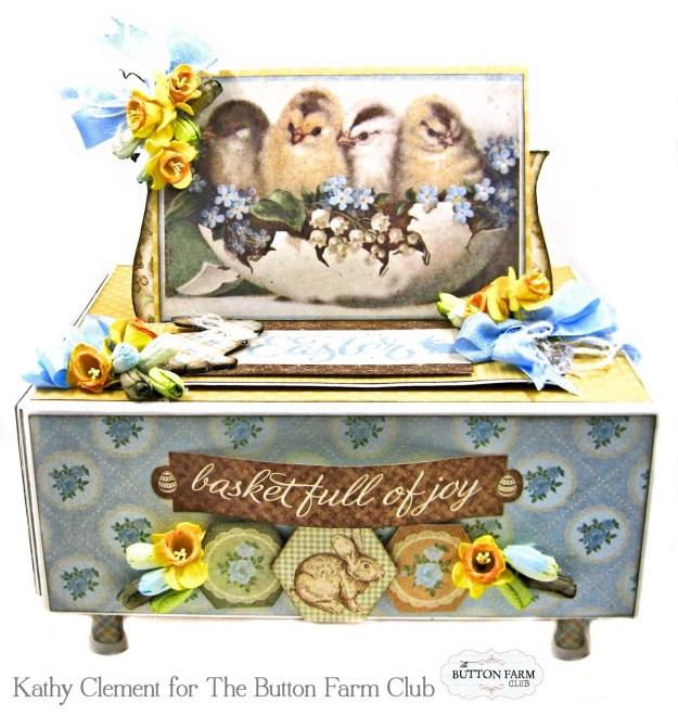 The Button Farm Club Basket Full of Joy Boxed Mini Album Kit Authentique Abundant Graphic 45 Deep Rectangle Box by Kathy Clement Kathy by Design Photo 01