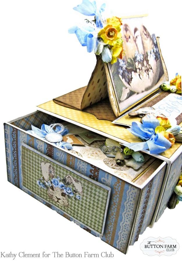 The Button Farm Club Basket Full of Joy Boxed Mini Album Kit Authentique Abundant Graphic 45 Deep Rectangle Box by Kathy Clement Kathy by Design Photo 03