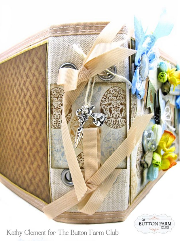 The Button Farm Club Basket Full of Joy Boxed Mini Album Kit Authentique Abundant Graphic 45 Deep Rectangle Box by Kathy Clement Kathy by Design Photo 05