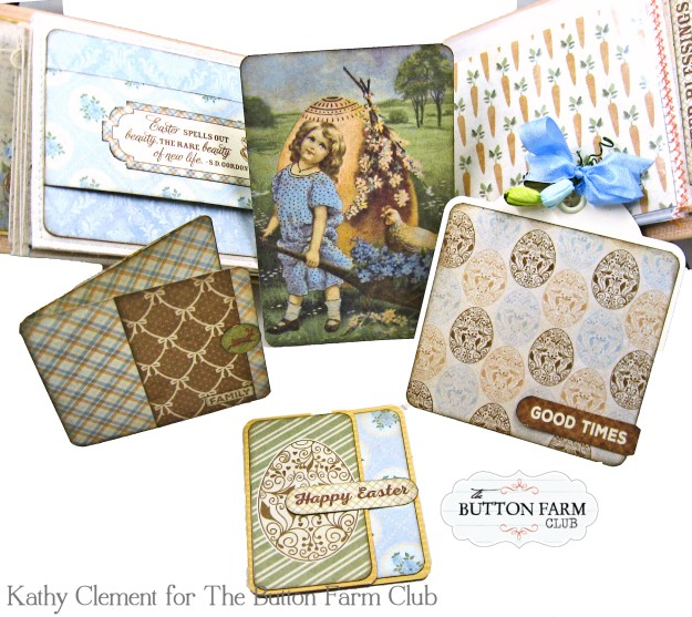 The Button Farm Club Basket Full of Joy Boxed Mini Album Kit Authentique Abundant Graphic 45 Deep Rectangle Box by Kathy Clement Kathy by Design Photo 08