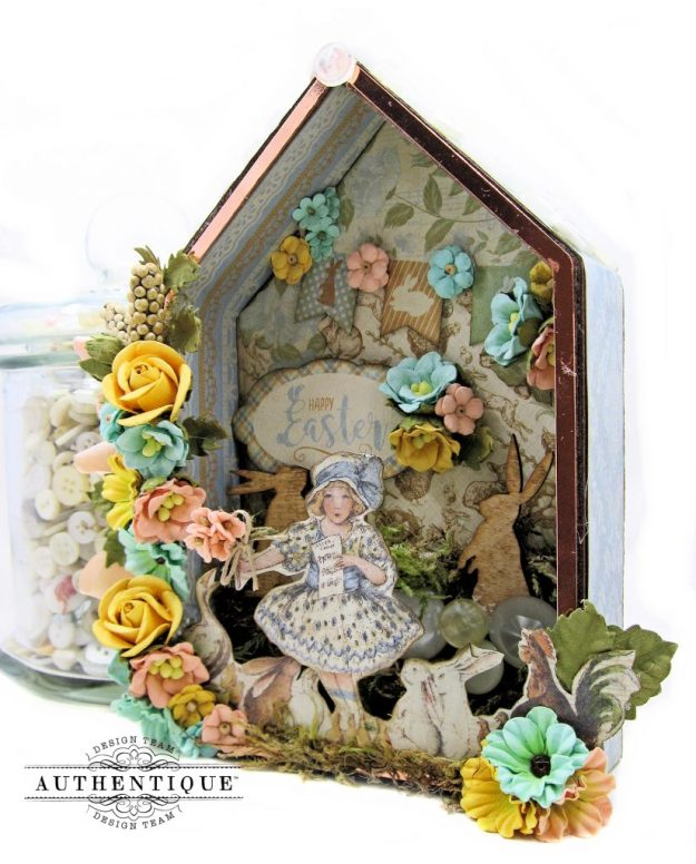 Authentique Abundant Easter Bunny Hideaway House by Kathy Clement Kathy by Design Photo 01