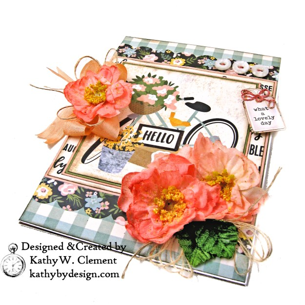 Simple Stories Spring Farmhouse Blooming Bicycle Card by Kathy Clement Kathy by Design Photo  03