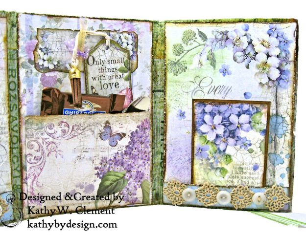Stamperia Lilac Flower Alphabet Tissue Wrapped Journal Tim Holtz Lace Baseboard Frame Heartfelt Creations Lush Lilac by Kathy Clement for The Funkie Junkie Boutique Photo 10