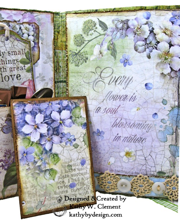 Stamperia Lilac Flower Alphabet Tissue Wrapped Journal Tim Holtz Lace Baseboard Frame Heartfelt Creations Lush Lilac by Kathy Clement for The Funkie Junkie Boutique Photo 11