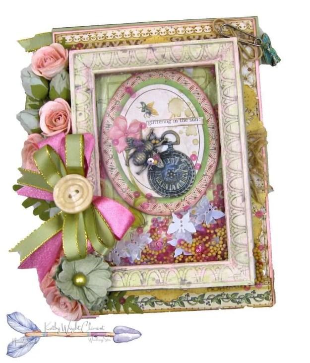 Stamperia Spring Botanic Shaker Card Folio Tutorial by Kathy Clement Kathy by Design Nomadic Soul Diaries Photo 01