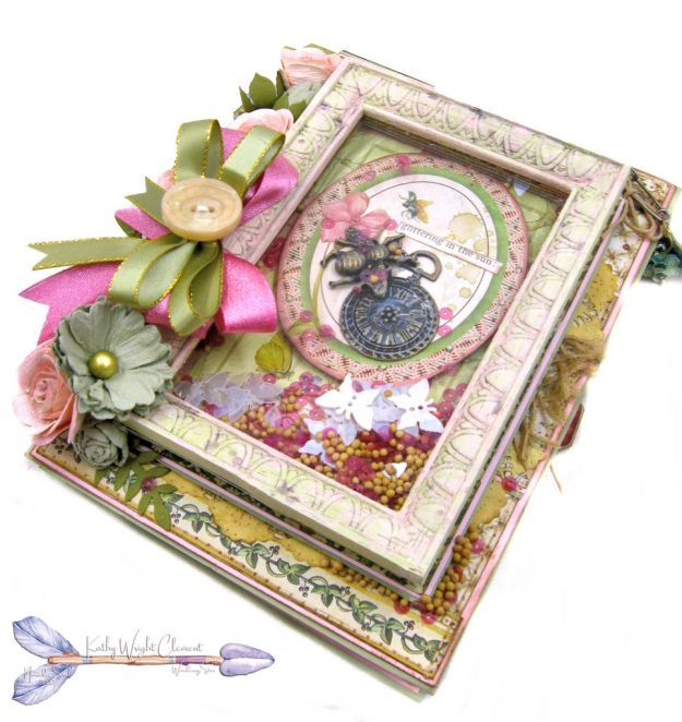 Stamperia Spring Botanic Shaker Card Folio Tutorial by Kathy Clement Kathy by Design Nomadic Soul Diaries Photo 03