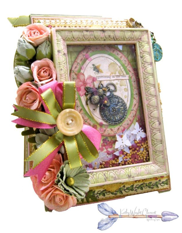Stamperia Spring Botanic Shaker Card Folio Tutorial by Kathy Clement Kathy by Design Nomadic Soul Diaries Photo 02