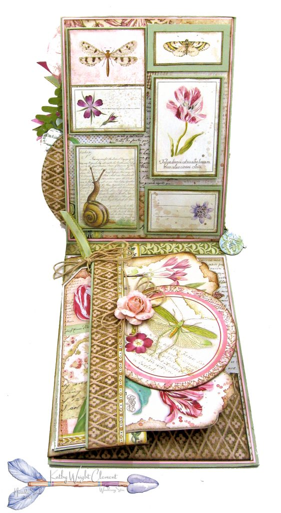 Stamperia Spring Botanic Shaker Card Folio Tutorial by Kathy Clement Kathy by Design Nomadic Soul Diaries Photo 04