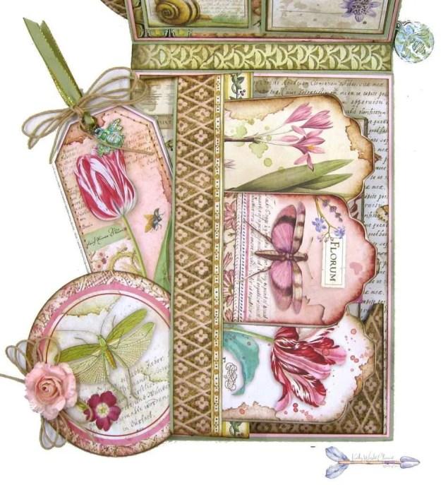 Stamperia Spring Botanic Shaker Card Folio Tutorial by Kathy Clement Kathy by Design Nomadic Soul Diaries Photo 06