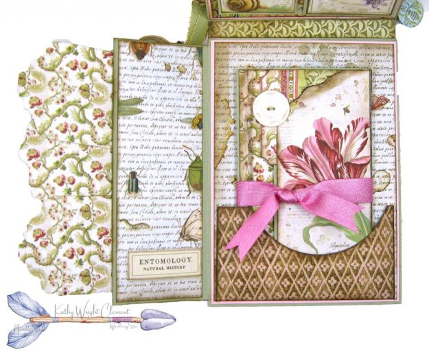 Stamperia Spring Botanic Shaker Card Folio Tutorial by Kathy Clement Kathy by Design Nomadic Soul Diaries Photo 07