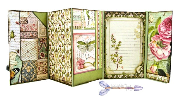 Stamperia Spring Botanic Shaker Card Folio Tutorial by Kathy Clement Kathy by Design Nomadic Soul Diaries Photo 10