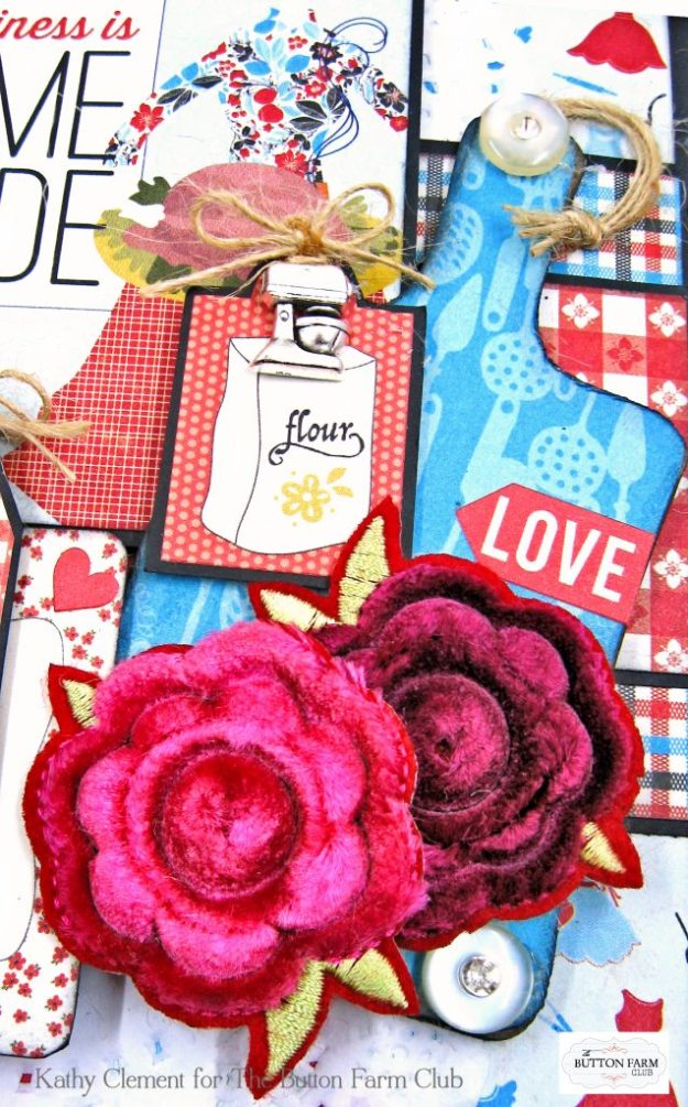 Button Farm Club Authentique Ingredient Recipe Album Kit by Kathy Clement Kathy by Design Photo 04