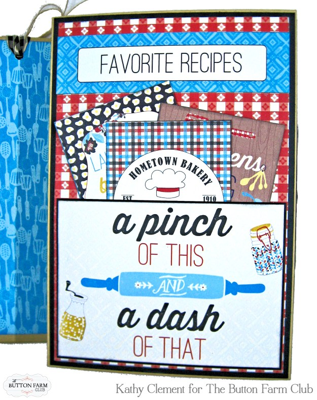 Button Farm Club Authentique Ingredient Recipe Album Kit by Kathy Clement Kathy by Design Photo 09