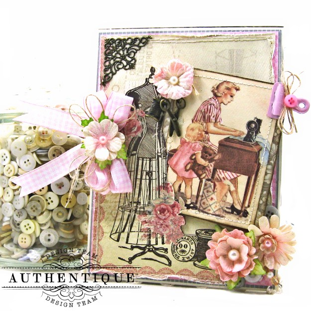 Authentique Stitches Mother's Day Sewing Card Folio Kathy Clement Kathy by Design Photo 01