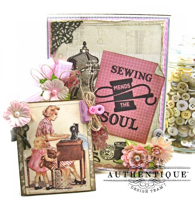 Authentique Stitches Mother's Day Sewing Card Folio Kathy Clement Kathy by Design Photo 02