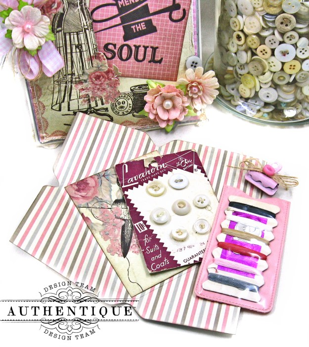 Authentique Stitches Mother's Day Sewing Card Folio Kathy Clement Kathy by Design Photo 03