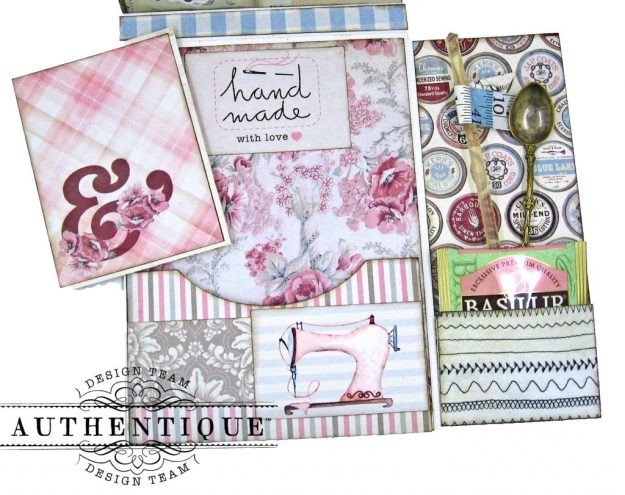 Authentique Stitches Mother's Day Sewing Card Folio Kathy Clement Kathy by Design Photo