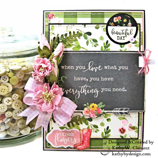 Carta Bella Spring Market Birthday Card by Kathy Clement Kathy by Design Photo 01