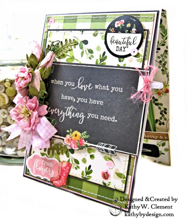 Carta Bella Spring Market Birthday Card by Kathy Clement Kathy by Design Photo 02