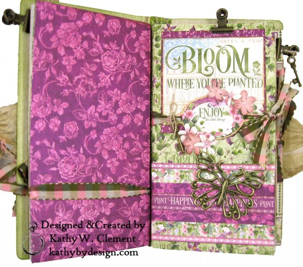 Graphic 45 Bloom Eileen Hull Journal Die Tutorial by Kathy Clement Kathy by Design Photo 04