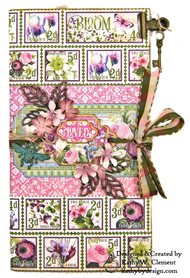 Graphic 45 Bloom Eileen Hull Journal Die Tutorial by Kathy Clement Kathy by Design Photo 05