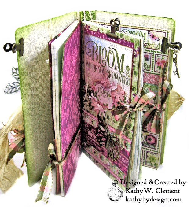 Graphic 45 Bloom Eileen Hull Journal Die Tutorial by Kathy Clement Kathy by Design Photo 01