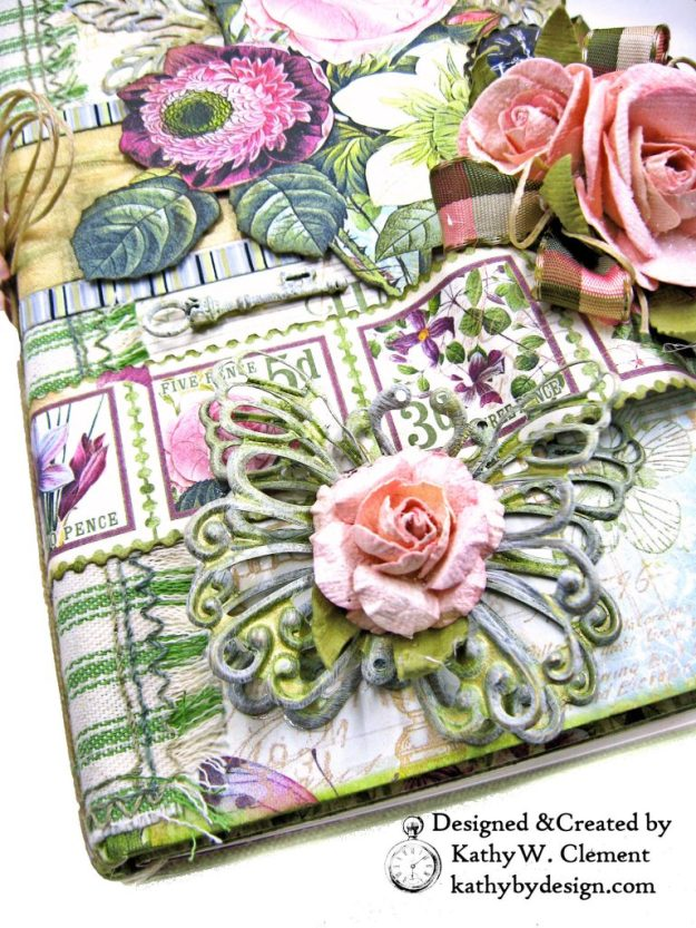 ButterBee Scraps Altered Metal Embellishments Tutorial by Kathy Clement Kathy by Design Photo 04
