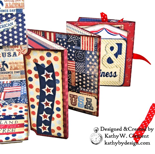 Authentique Liberty Star Spangled Cowgirl Boots Card Folio by Kathy Clement Kathy by Design for Really Reasonable Ribbon Photo 05