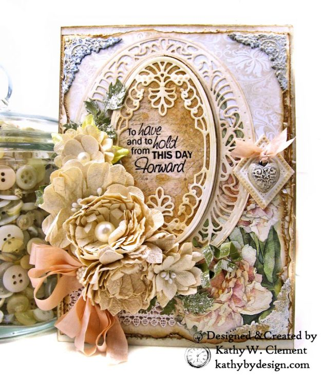 Amazing Paper Grace Vintage Treasures Dies Bella Luce Oval Stamperia Ceremony Wedding Folio by Kathy Clement Kathy by Design Photo 01