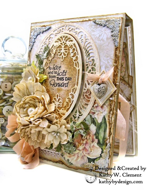 Amazing Paper Grace Vintage Treasures Dies Bella Luce Oval Stamperia Ceremony Wedding Folio by Kathy Clement Kathy by Design Photo 02