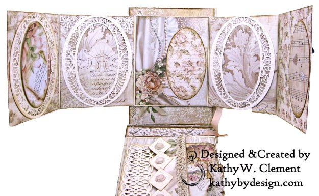 Amazing Paper Grace Vintage Treasures Dies Bella Luce Oval Stamperia Ceremony Wedding Folio by Kathy Clement Kathy by Design Photo 11