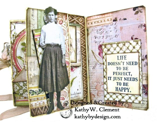 Stamperia Spring Botanic Eileen Hull Notebook Video Tutorial by Kathy Clement Kathy by Design for The Funkie Junkie Boutique Photo 08
