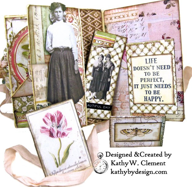 Stamperia Spring Botanic Eileen Hull Notebook Video Tutorial by Kathy Clement Kathy by Design for The Funkie Junkie Boutique Photo 09