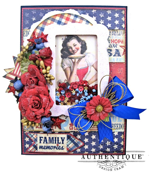 Authentique Liberty PIe Shaker Card Folio by Kathy Clement Kathy by Design for Really Reasonable Ribbon Photo 01