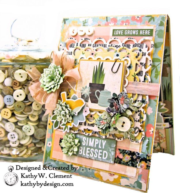Simple Stories Spring Farmhouse Simply Blessed Card Folio by Kathy Clement Kathy by Design Photo  03