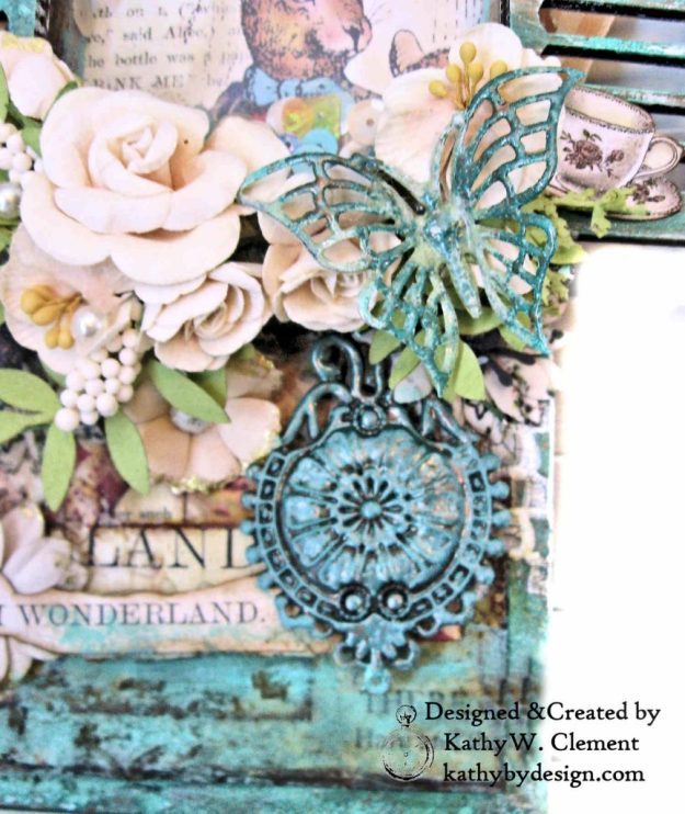Stamperia Alice Mixed Media Etcetera Tag by Kathy Clement Kathy by Design for The Funkie Junkie Boutique Photo 03