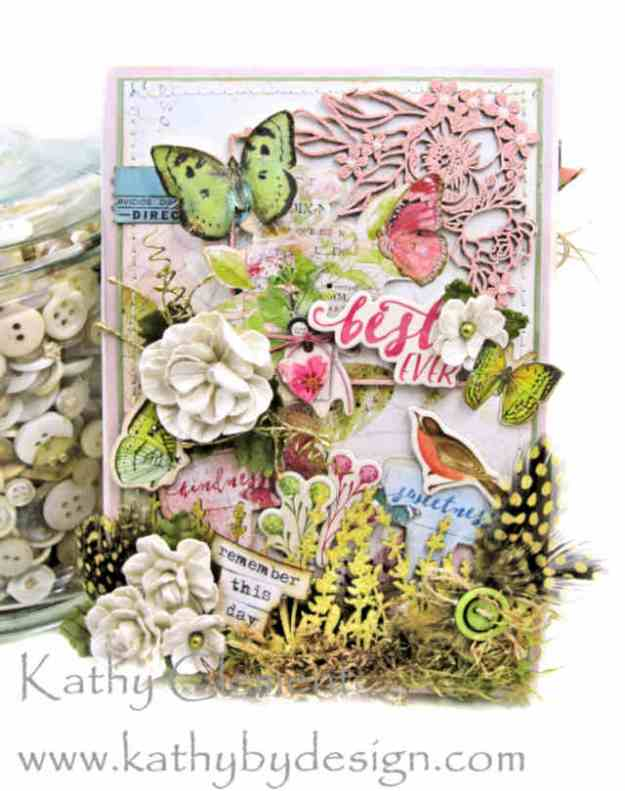 Morning Meadow Mixed Media Card Folio Simple Stories Simple Vintage Botanicals by Kathy Clement Kathy by Design Photo 01