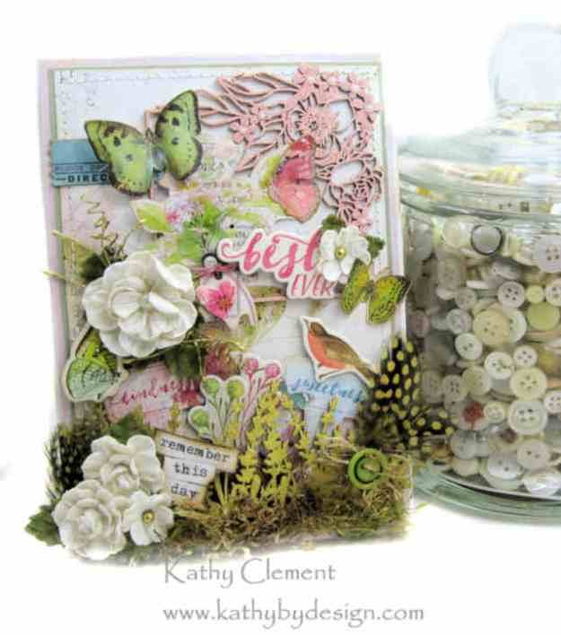 Morning Meadow Mixed Media Card Folio Simple Stories Simple Vintage Botanicals by Kathy Clement Kathy by Design Photo 03
