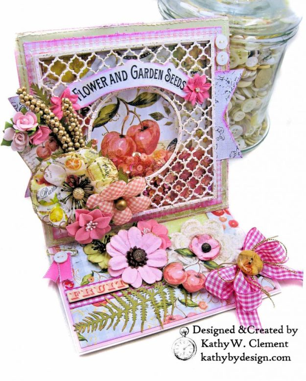 Prima Fruit Paradise Shaker Card by Kathy Clement for Really Reasonable Ribbon Photo 3