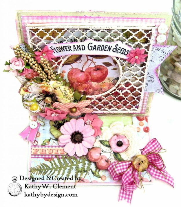 Prima Fruit Paradise Shaker Card by Kathy Clement for Really Reasonable Ribbon Photo 4