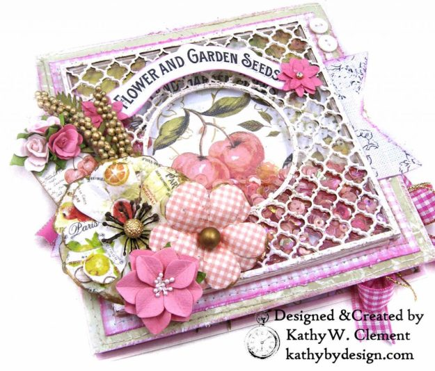 Prima Fruit Paradise Shaker Card by Kathy Clement for Really Reasonable Ribbon Photo 1