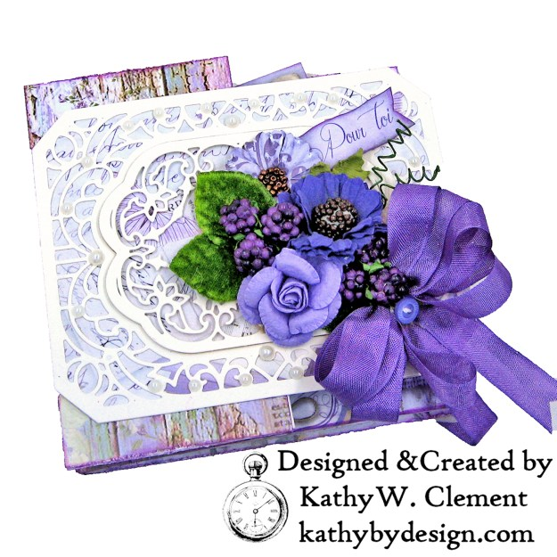Summer Berries Box Card Spellbinders Amazing Paper Grace Cannetille Rectangle Dies Stamperia Provence Lilac Flowers by Kathy Clement Kathy by Design Photo 01
