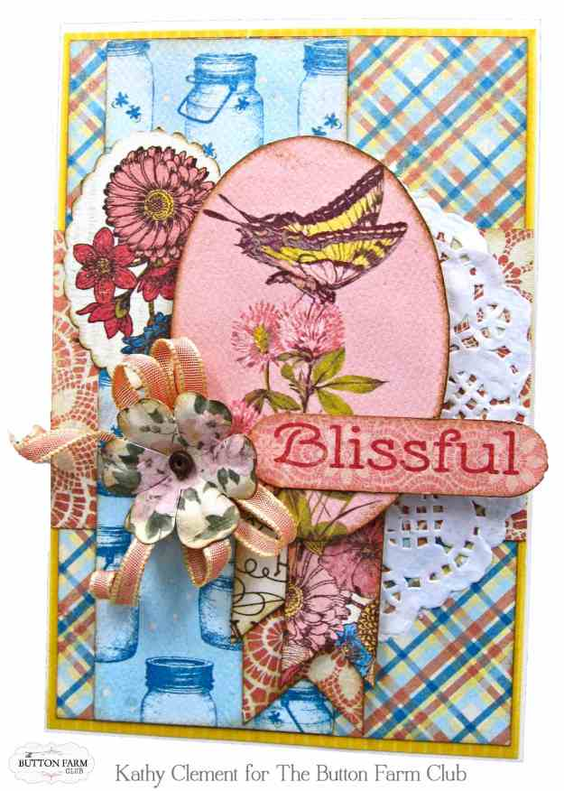 Authentique Endless Summer Card Kit for The Button Farm Club by Kathy Clement Kathy by Design Photo 07