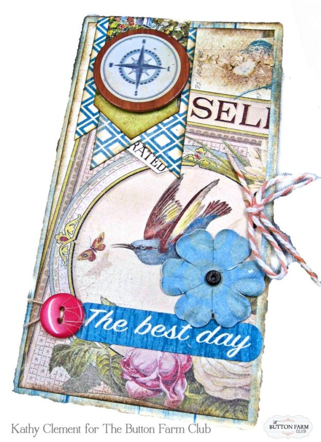 Authentique Endless Summer Card Kit for The Button Farm Club by Kathy Clement Kathy by Design Photo 12