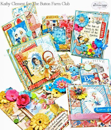 Authentique Endless Summer Card Kit for The Button Farm Club by Kathy Clement Kathy by Design Photo 01