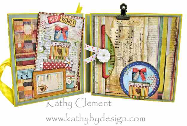 Stamperia Patchwork Tea Folio by Kathy Clement for Really Reasonable Ribbon Photo 04